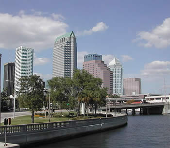 view of downtown in Tampa, FL